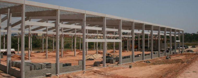 Estrutura para barracão